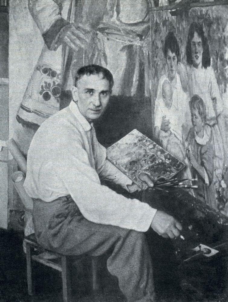 Ф.Кричевский вмастерской. Фото 1930‑х гг.