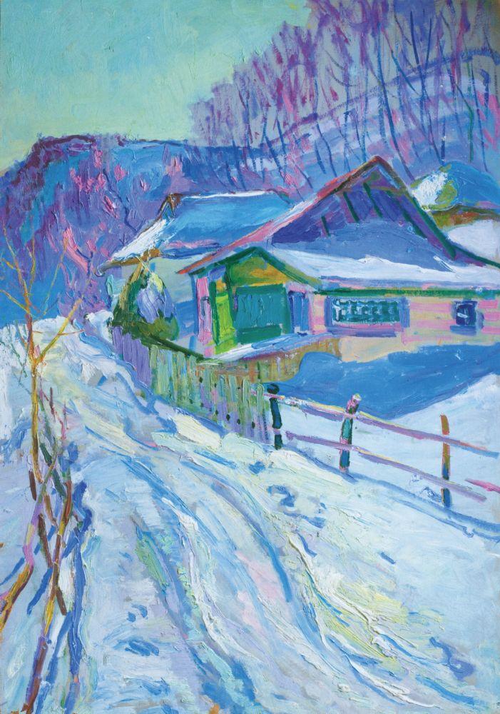 Н.Глущенко. Седнев зимой. 1968. К., м. Частное собрание
