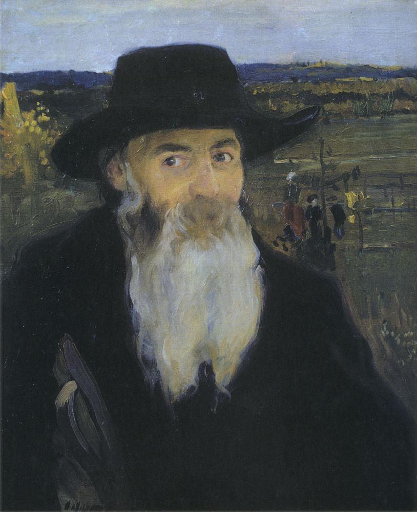 А.Мурашко. Старый учитель. Портрет художника Н.И.Мурашко. 1906. Х., м. НХМУ. (Написан вБуче)