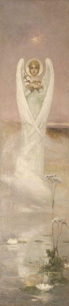Ангел. Х., м. 200×50см. Собрание И. Понамарчука