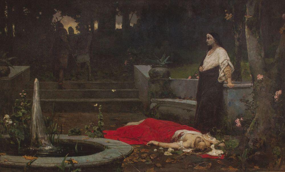 Смерть Мессалины. Х., м. 300×500см. Собрание И. Понамарчука