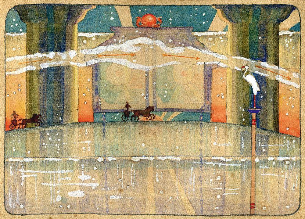 Врата Горизонта. 1918. Бумага, смешанная техника. 14,3×15,2см