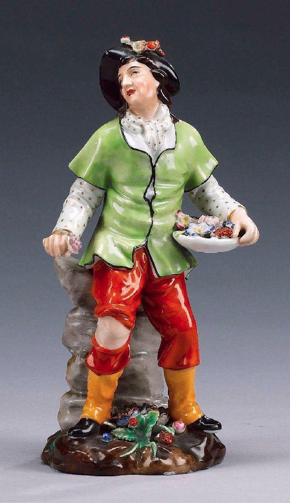 Флакон-статуэтка. 1865. Фарфор. Мануфактура «Jacob Petit». Выс. 24,2см. Bonhams, май 2005—£120–150