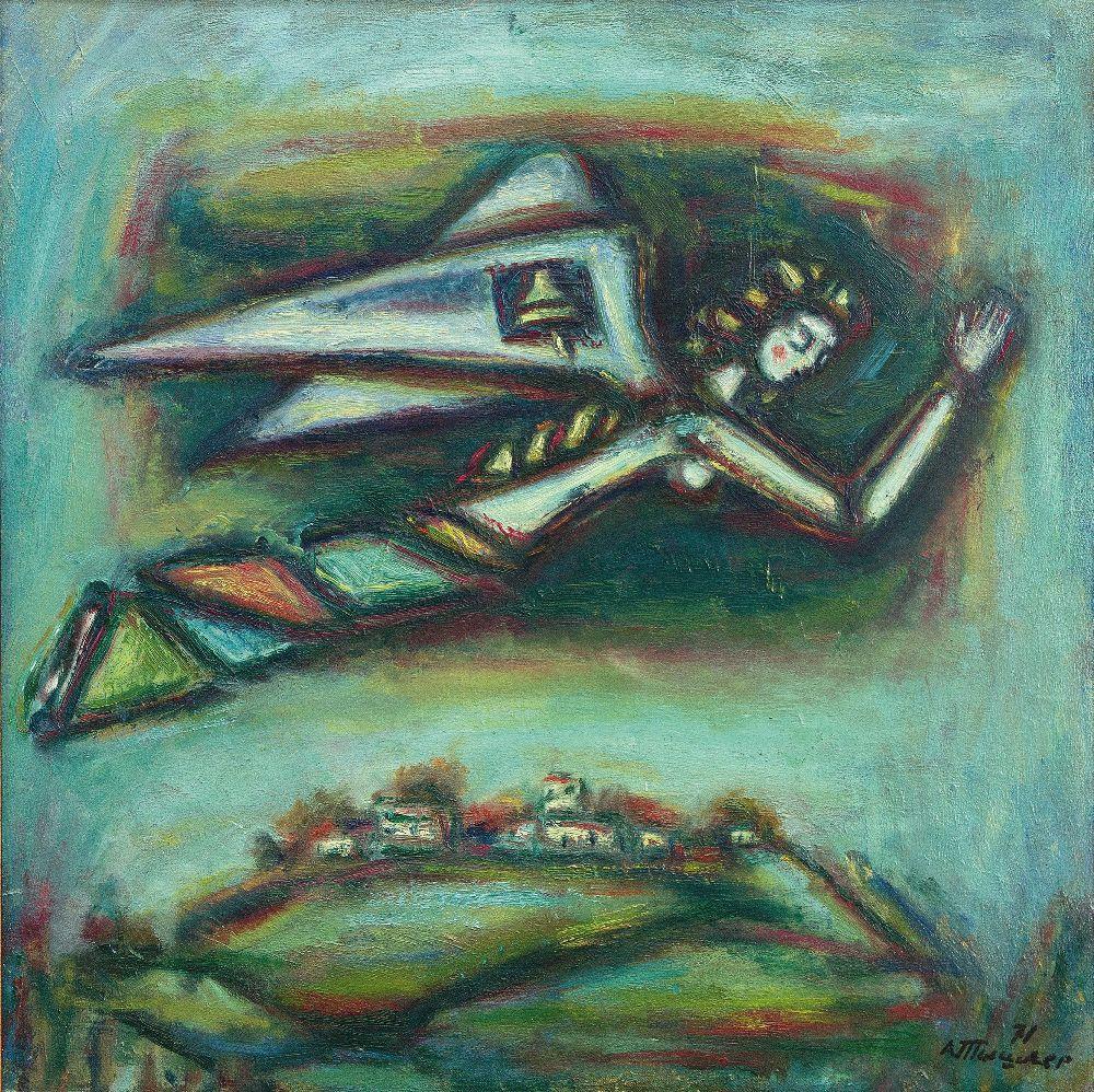 Благовест. 1972. Х., м. 40×40см. Из собрания Игоря Дыченко
