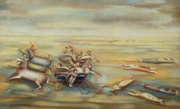 Махновщина (Гуляй-Поле). 1927. Х., м. 167×200см. Киевский национальный музей русского искусства