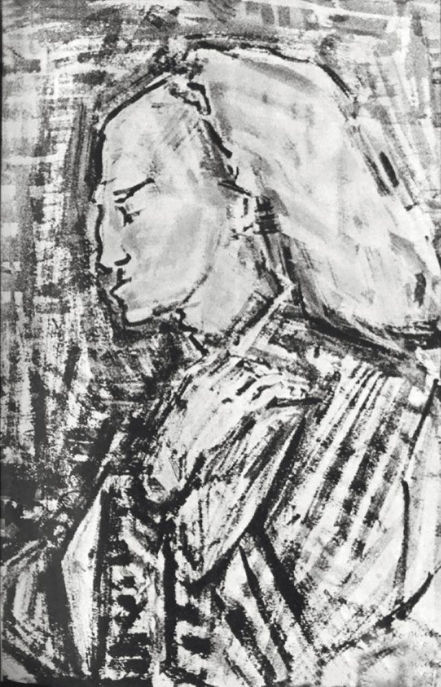 ПортретС.Михоэлса вроли Короля Лира. 1953