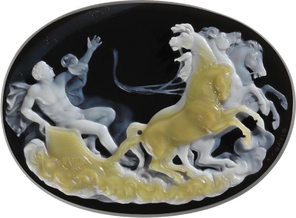 Камея «Падение Фаэтона». Франция, 3‑ячетв. XIXв., мастер Адольф Давид. Метрополитен-музей, Нью-Йорк