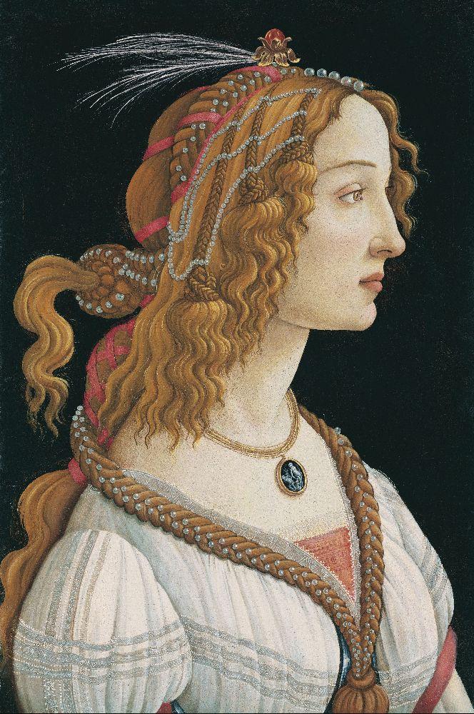 СандроБоттичелли. Портрет молодой женщины. 1480–1485. Штеделевский институт искусств, Франкфурт-на-Майне