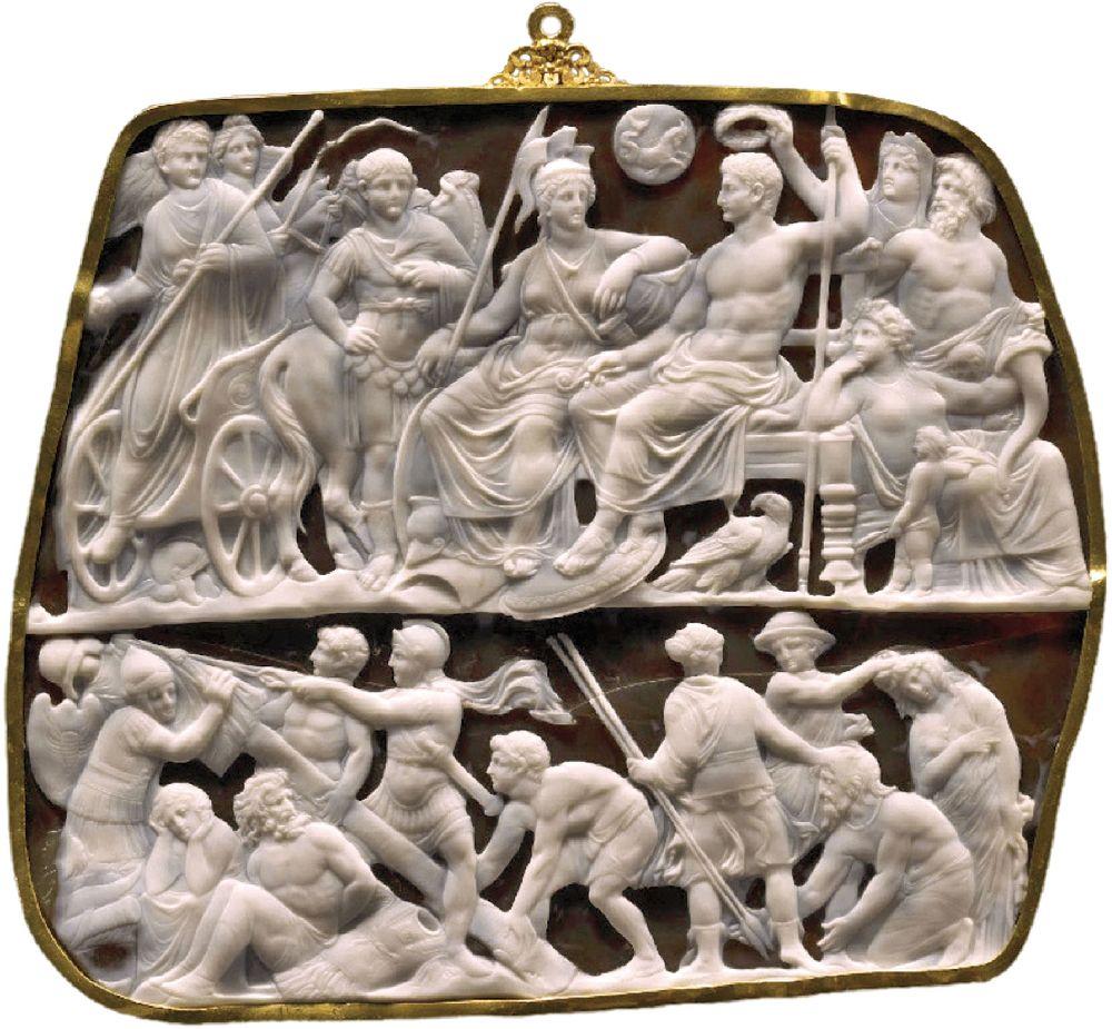 Камея Августа. Рим, 10–20‑е гг. н. э. Музей истории искусств, Вена