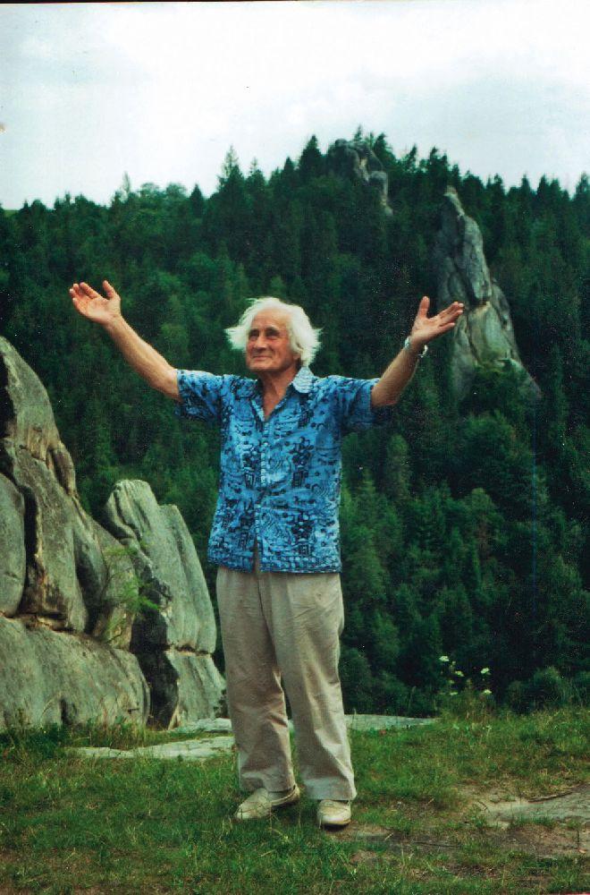 Володимир Савчак наУрицьких скелях уКарпатах. 1995