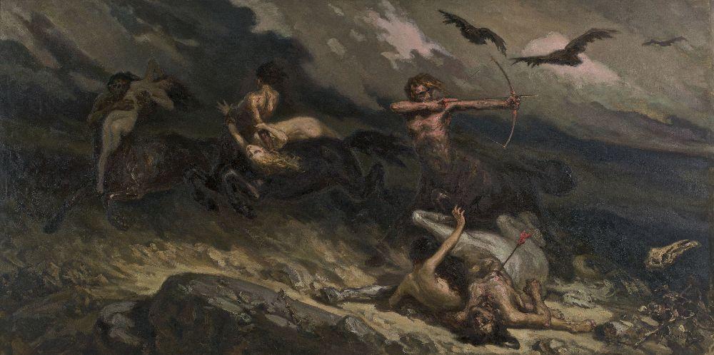 Бой кентавров слапифами. Х., м. 143×283 см