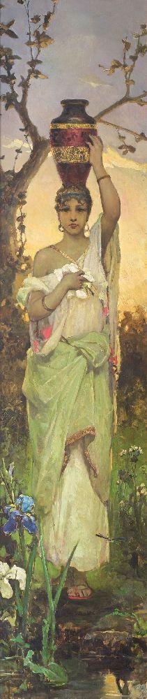 Женщина скувшином. Х., м. 212×47 см