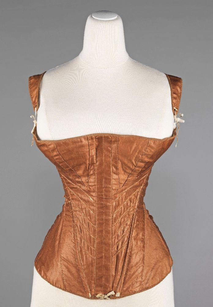 Корсет. США, 1830–1835. Хлопок, металл, кость. Коллекция костюмов Бруклинского музея