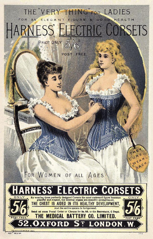Рекламное объявление опродаже корсетов «Harness'». 1892