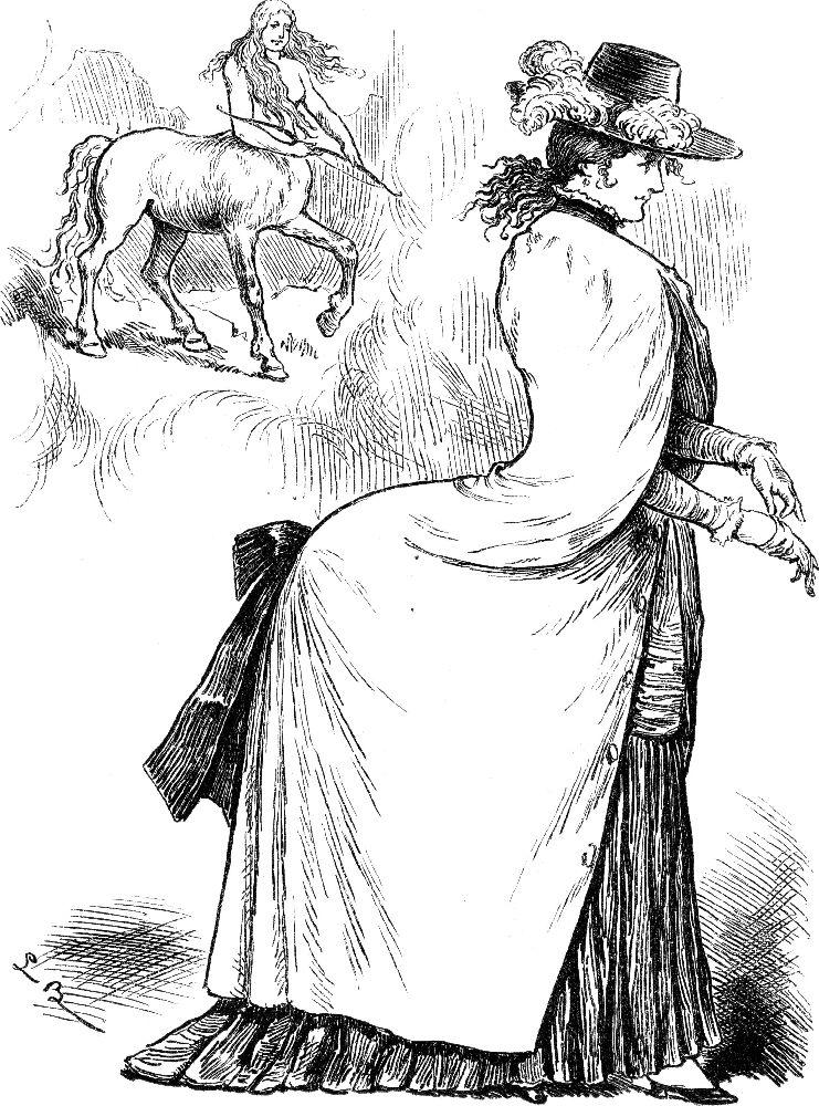 Иллюстрация изнемецкого юмористического журнала 1883года