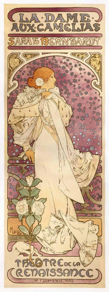 А.Муха. Афиша кспектаклю «Дама скамелиями». 1896