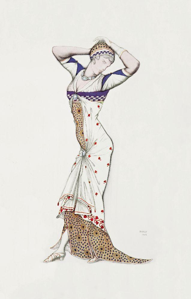 Л.Бакст. Эскиз женского костюма «Аталанта». 1912