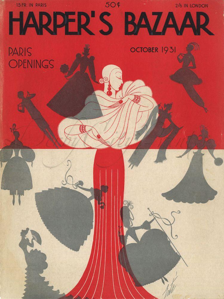 Эрте. Обложка журнала «Harper's Bazaar». 1931