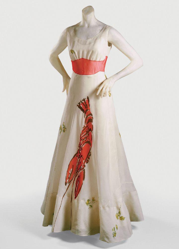 Э.Скиапарелли. Платье срозовым омаром. 1937