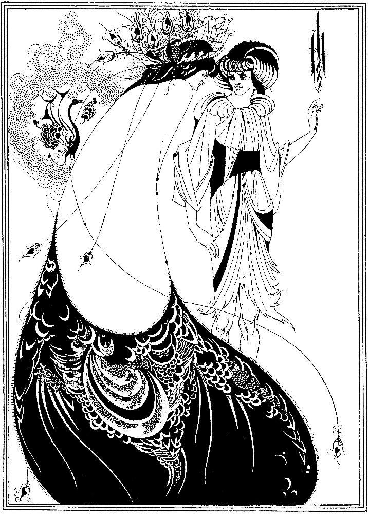 О.Бёрдслей. Иллюстрация к пьесе О. Уайльда «Саломея». 1893