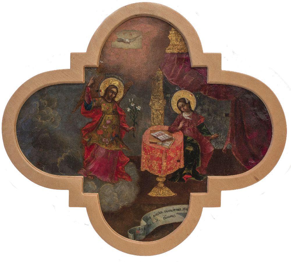 Икона «Благовещение» (Киев, первая треть XVIIIв.) после реставрации