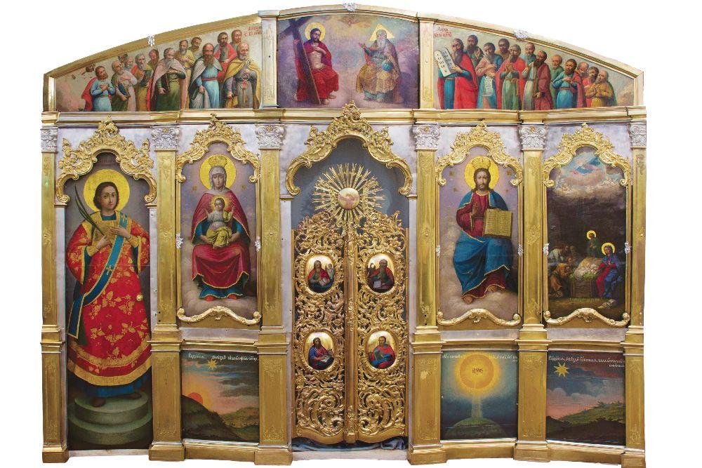 Иконостас церкви Рождества Христова вДальних пещерах