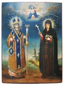 Икона «Св. Григорий Богослов исв. Ксения» (XIXв.) после реставрации