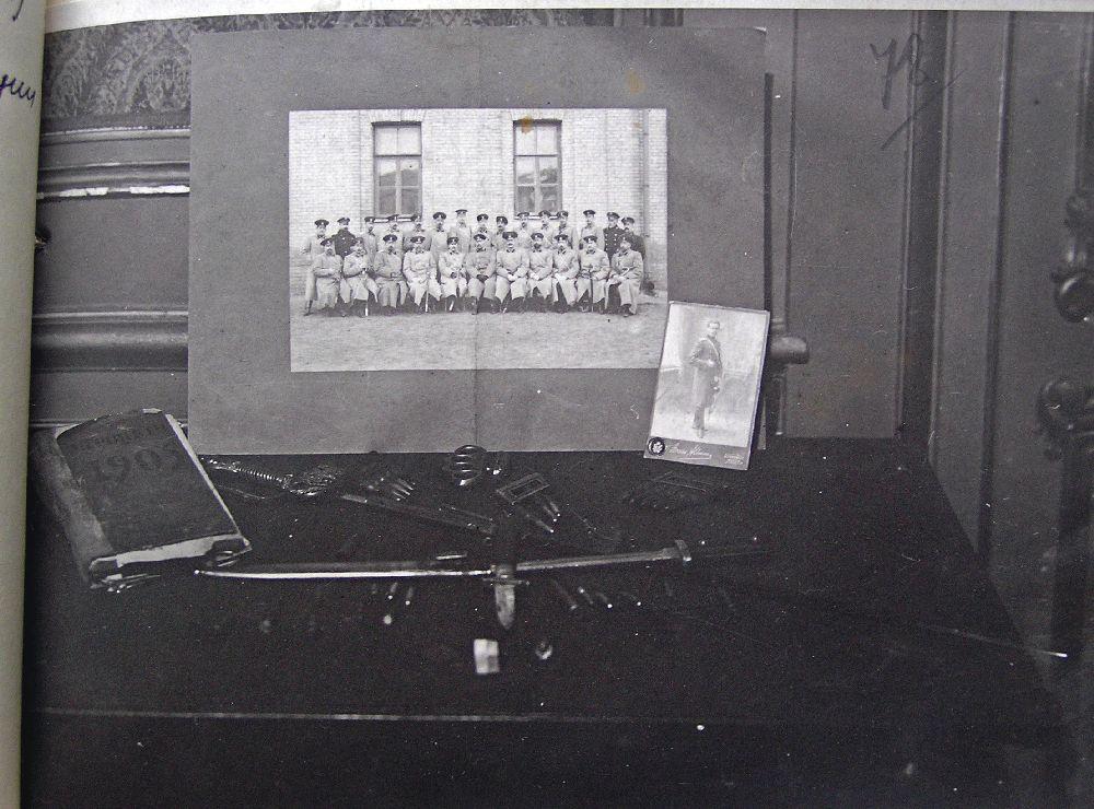 Фотографии, патроны, кастет ипрочие вещи, изъятые вовремя арестов вКиеве 5–6 апреля 1935г. Фото изфондов ОГА СБУ
