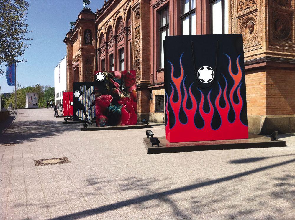 Выставка арт-пакетов Montblanc вгамбургском Кунстхалле. 2011