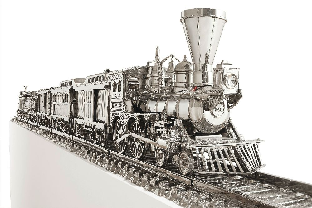 Д.Кунс. Jim Beam — J. B. Turner Train. 1986. Нержавеющая сталь, бурбон Jim Beam