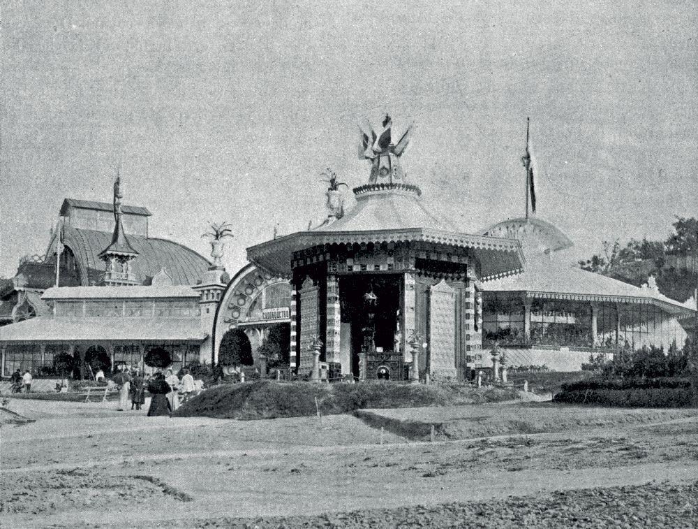 Павильон завода И.Анджейовского (напервом плане). Фото 1897г.