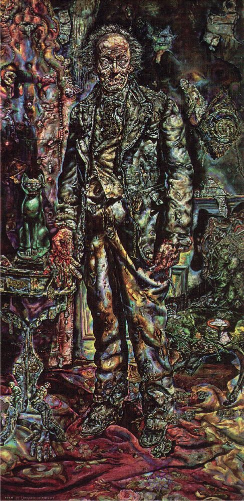 А.Олбрайт. Портрет Дориана Грея. 1943–1944. Холст, масло. 216×107см. Чикагский институт искусств