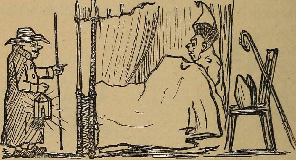 Один изрисунков У.М.Теккерея (1811–1863), найденных после его смерти ивпервые опубликованных в1875году