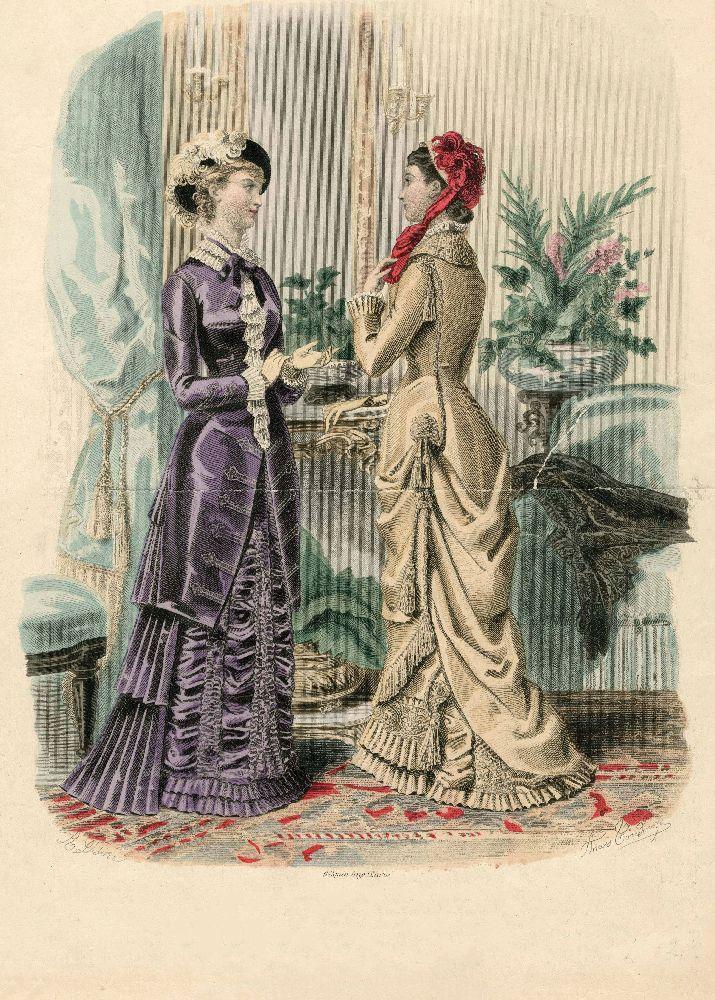 "Страница парижского журнала «La Mode illustrée». 1880-е гг. Page of the Paris magazine ""La Mode illustrée"". 1880s"
