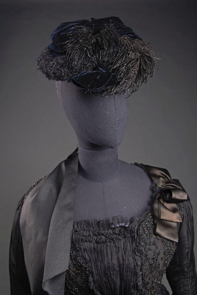 Берет с пером. 1890-е гг. Victoria Museum Beret with a feather. 1890s. Victoria Museum