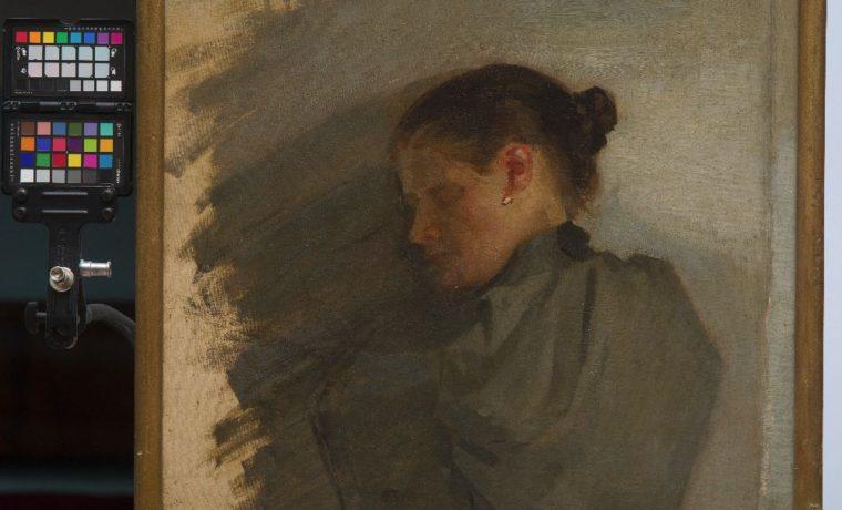 ОлександрМурашко. Портрет матері (?). Етюд. Полотно, олія. 56×60,5 см. НХМУ
