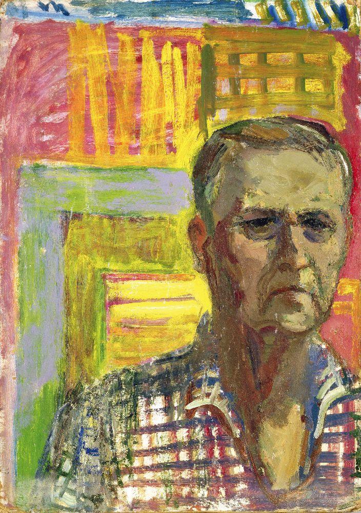 Н.Глущенко. Автопортрет. 1970‑е гг. К., м. 69×48см