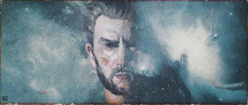 О.Соколов. Автопортрет. 1960‑е гг. Б., гуашь. 25,5×60см