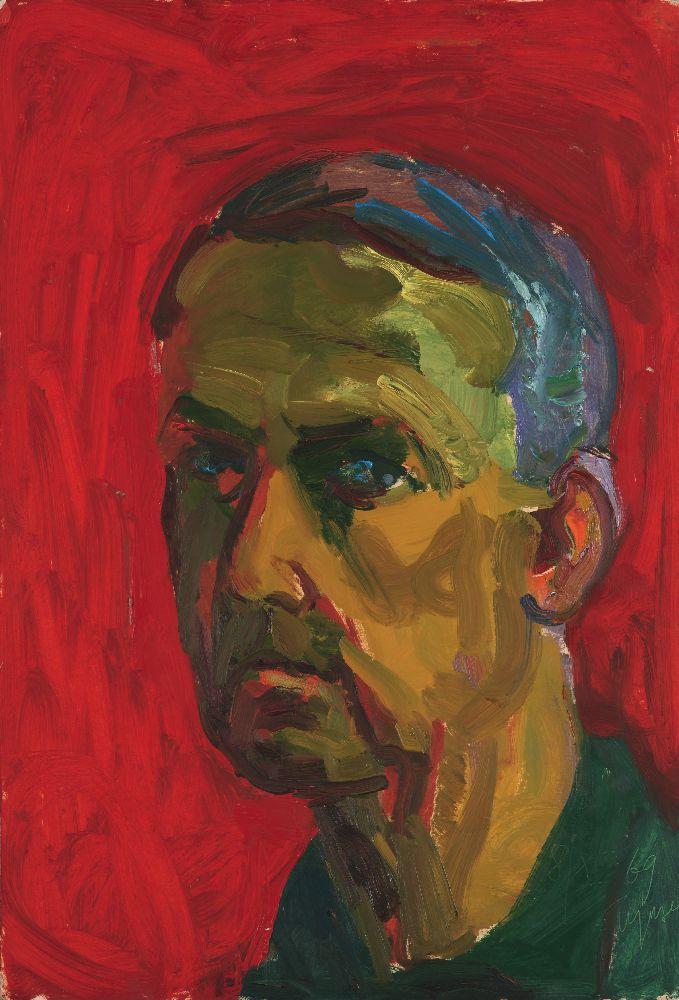 Н.Глущенко. Автопортрет. 1969. К., м. 59,2×39,8см