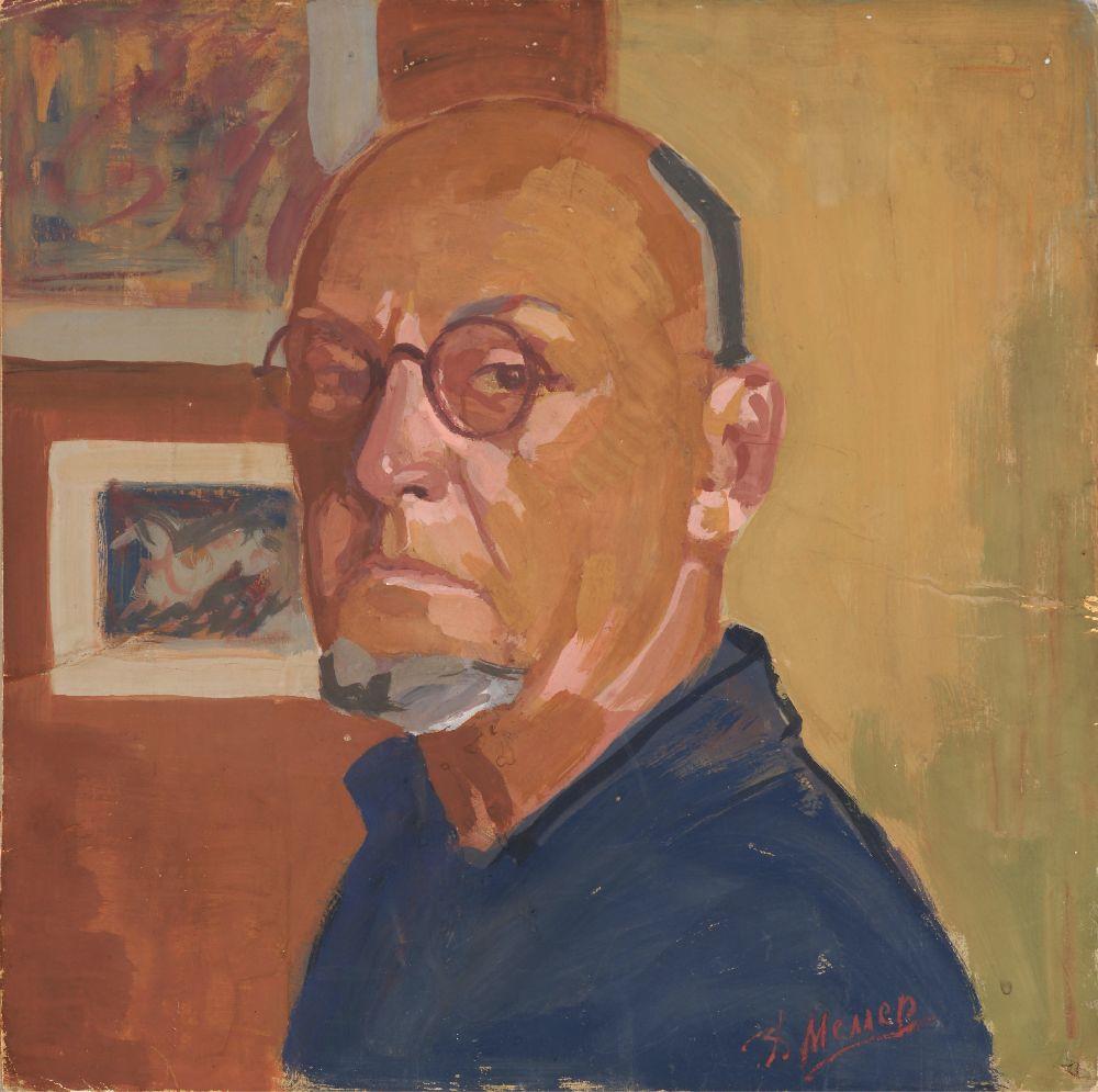 В.Меллер. Автопортрет. 1940‑е гг. К., гуашь. 43,5×43,5см