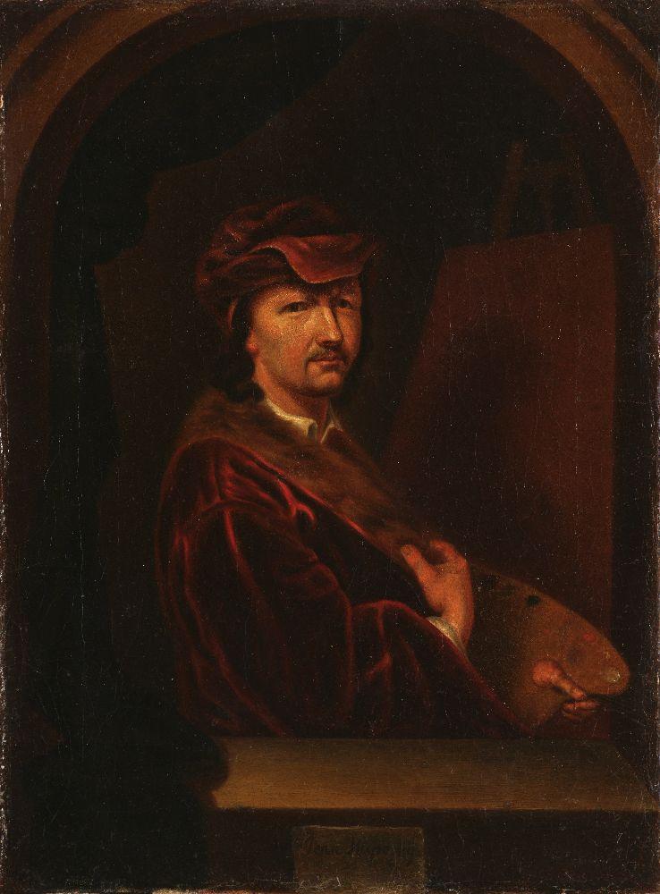 Я.Купецкий. Автопортрет. Кон. XVIIв. Х., м. 34×25см