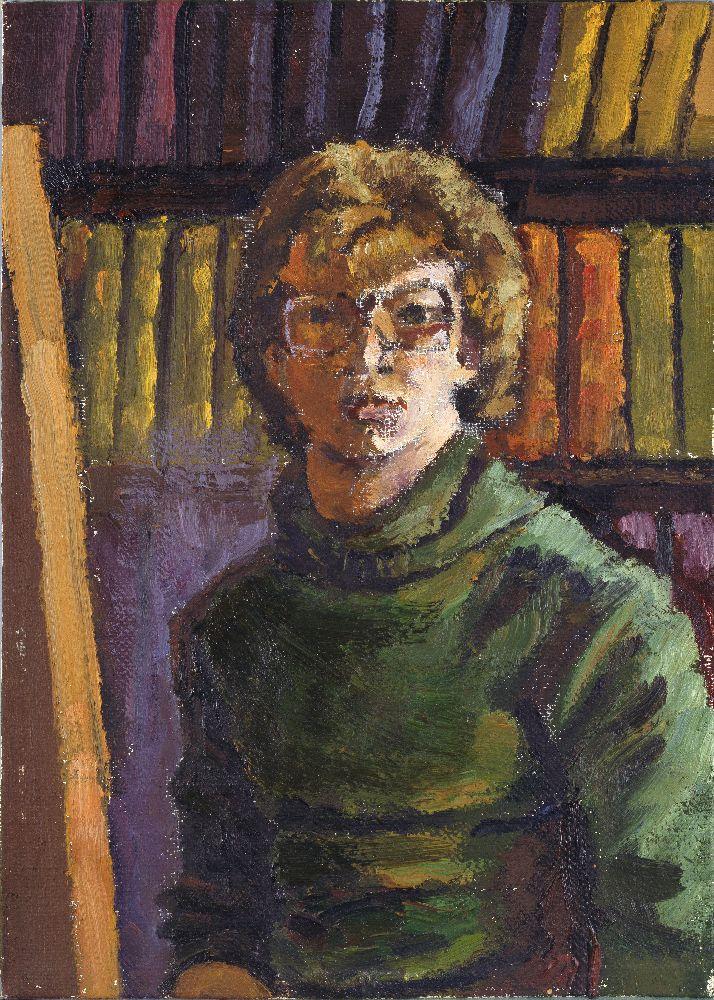 Э.Дымшиц. Автопортрет. 1981. Х. нак., м. 37,7×25см