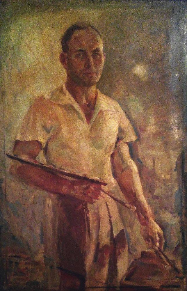 Автопортрет. 1950‑ті рр. ДВП, олія. Музей української діаспори