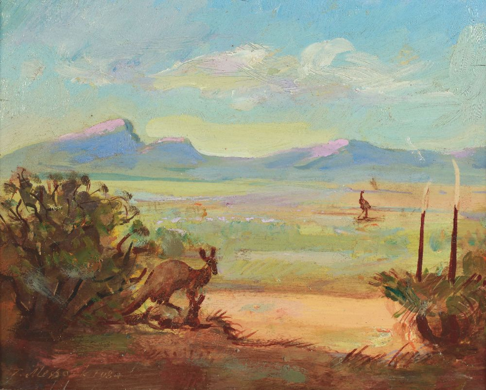 Фліндерс-Рейнджес. Південна Австралія. 1984. Фанера, олія. Музей української діаспори