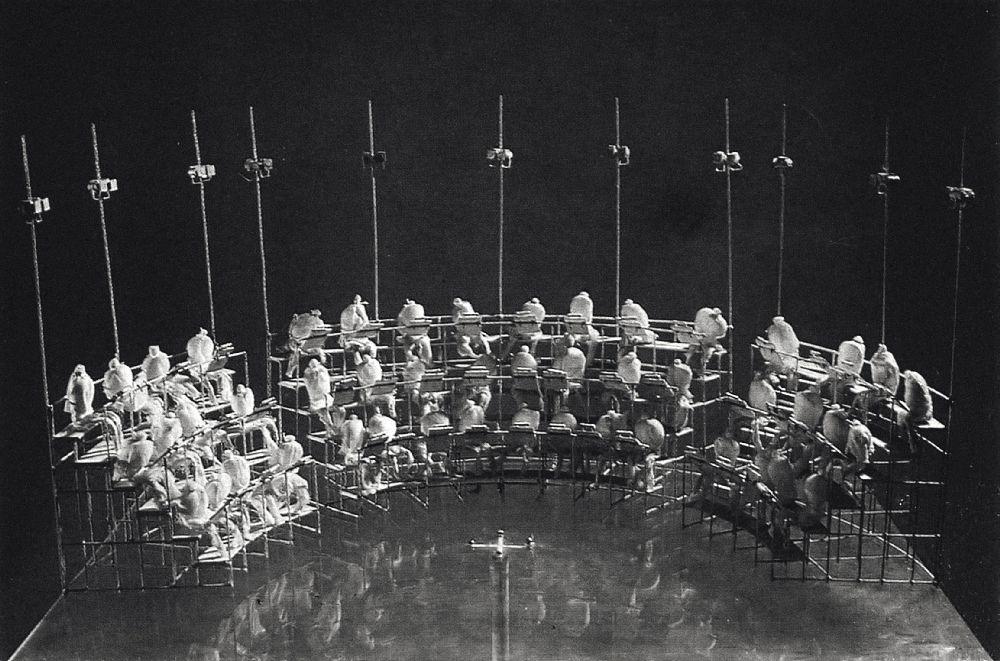 Макет довистави «Докиб'ється серце» зап'єсою Д.Храбровицького (реж. І.Горбачов). 1977. Ленінградський театр драми ім. О.С.Пушкіна