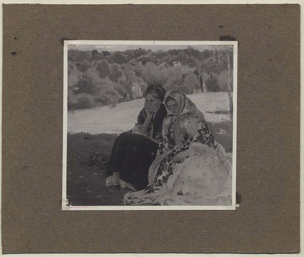 Картина О. Мурашка «Неділя» (1909, олія; місцезнаходження невідоме) на репродукції венеційського фотографа Томазо Філіппі. Музей «Духовні скарби України»