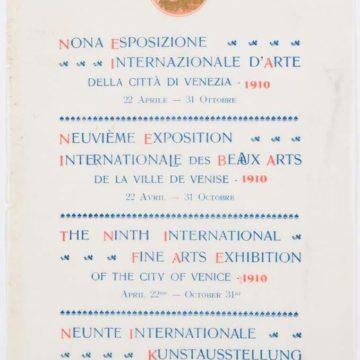 Реклама IX Міжнародної виставки образотворчих мистецтв міста Венеції. ДАФ НХМУ, ф. 12, од. зб. 78