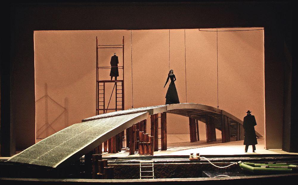 Макет довистави «Ерік ХІV». 2015. Театр ім. І.Франка, реж. С.Мойсеєв