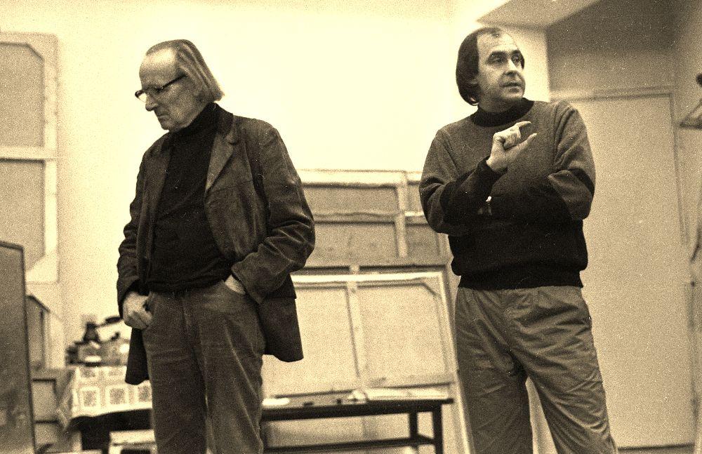 Даниил Лидер и Тиберий Сильваши. 1980-е гг. Фото В. Марущенко