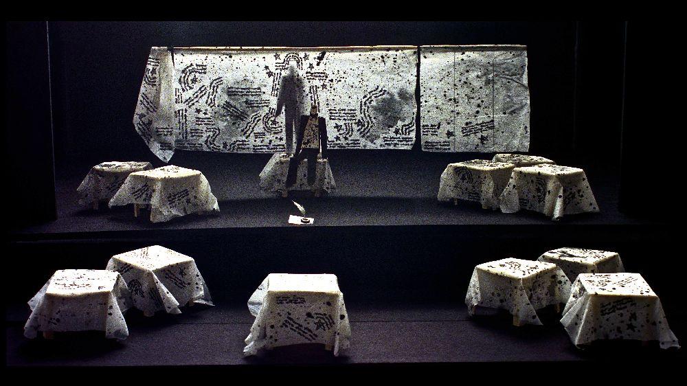 В.Карашевський. Макет довистави «Орфей» зап'єсою Ж. Кокто (реж. І.Талалаєвський). 2004. Театр «Ательє 16»
